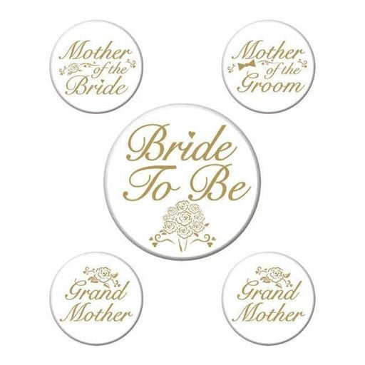 Bridal Party Buttons x 5