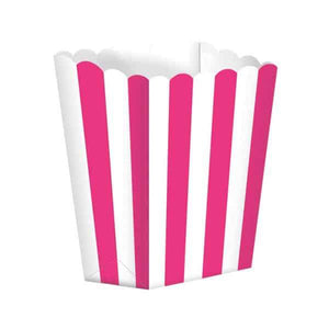 Bright Pink Candy Buffet Popcorn Boxes 5pk