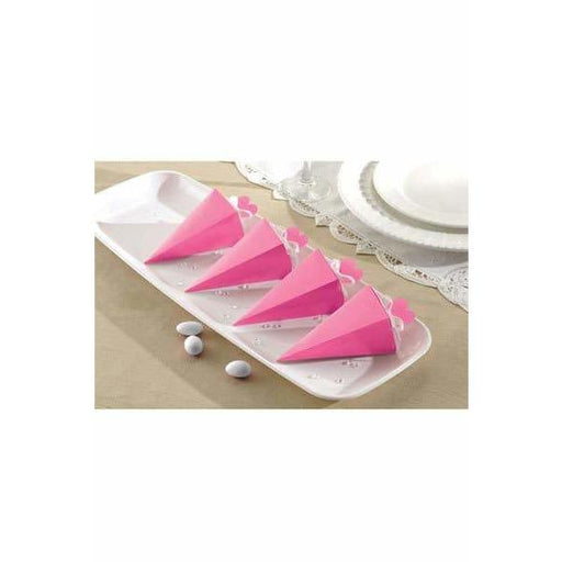 Bright Pink Cone Favour Boxes 50pk
