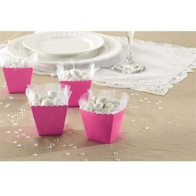 Bright Pink Favour Scallop Boxes 100pk