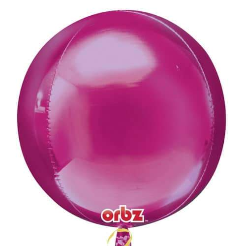 Bright Pink Orbz Balloons x3
