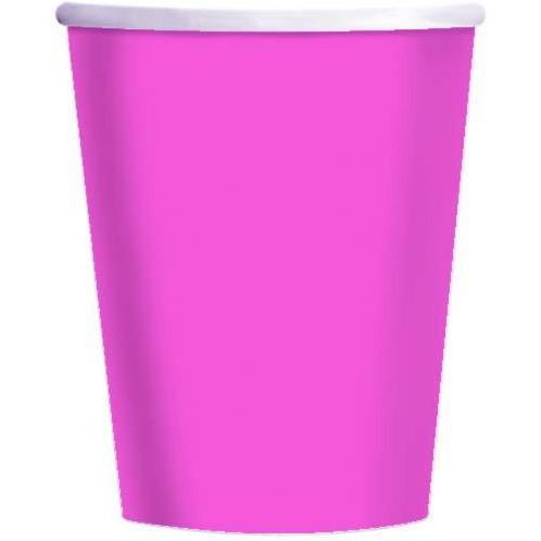 Bright Pink Paper Cups 20pk