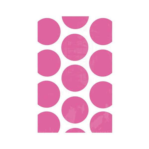 Bright Pink Polka Dot Treat Bags 10pk