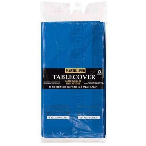 Bright Royal Blue Paper Tablecover 1pk