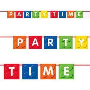 Building Blocks Party Time Banner