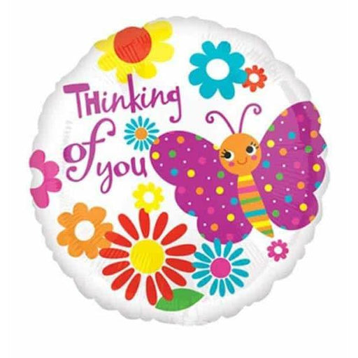 Butterfly Thinking Of You Foil Balloon