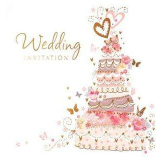 Cake Wedding Card Invitations