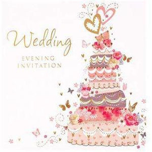 Cake Wedding Evening Card Invitations