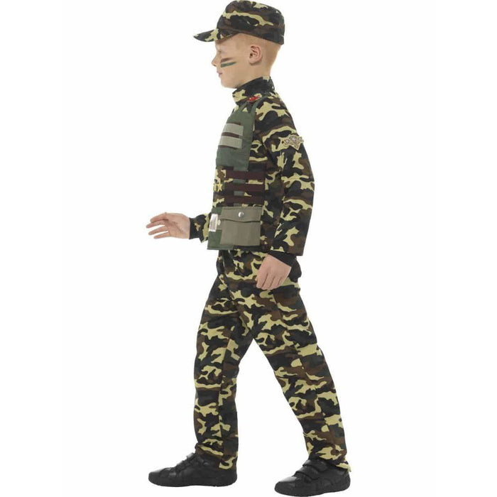Camouflage Military Boy Costume
