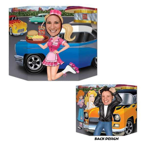Car Hop And Greaser Photo Prop Decorations