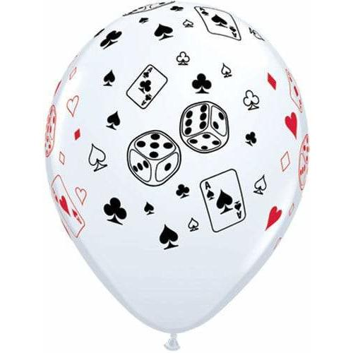 Cards And Dice Latex Balloons x25