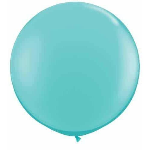 Caribbean Blue Giant Latex Balloons x2
