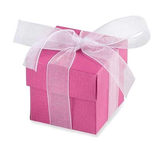 Cerise Favour Box And Lid x10