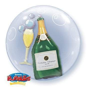 Champagne Double Bubble Balloon