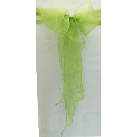 Lime Green Organza Chair Sash