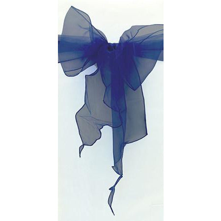 Navy Blue Organza Chair Sash