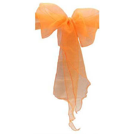 Orange Organza Chair Sash