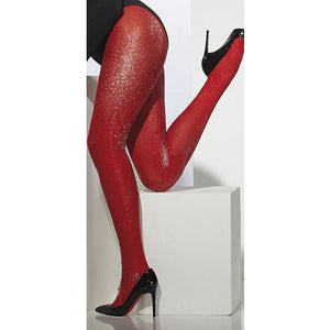 Silver Sparkle Red Tights