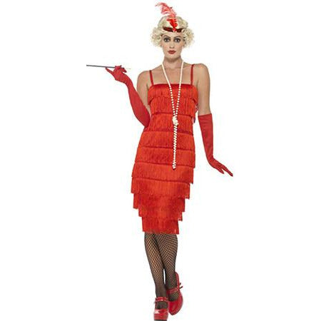 Red Fringed Flapper Costume