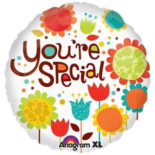 Cheery Flowers You're Special Foil Balloon