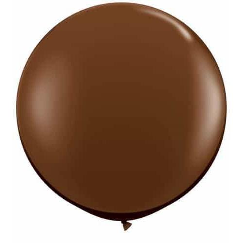 Chocolate Brown Giant Latex Balloons x2