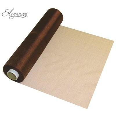 Chocolate Brown Organza Roll
