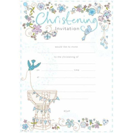 Christening Boy Invitation Hanging Pad x20