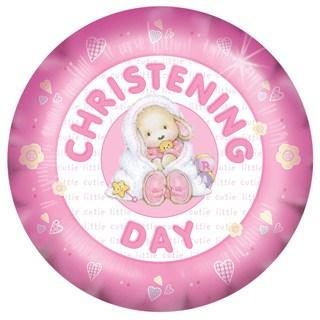 Christening Day Little Cute Girl Foil Balloon