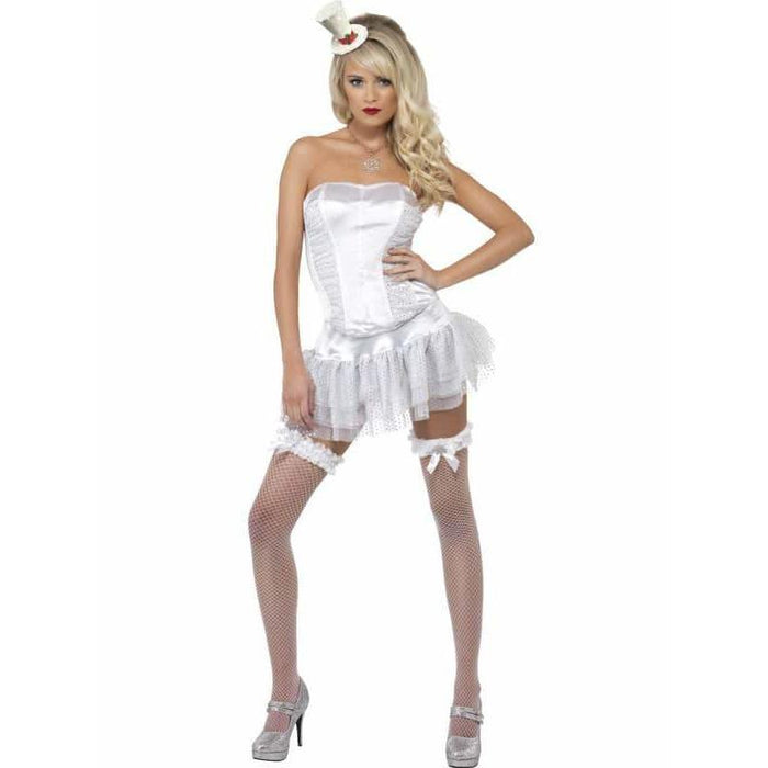 Christmas Burlesque Winter White Costume