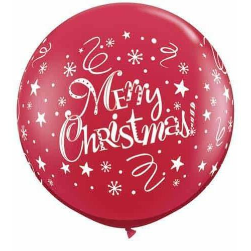 Christmas Festive Giant Latex Balloons 2pk