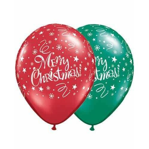 Christmas Festive Latex Balloons 25pk
