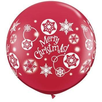 Christmas Snowflakes Giant Latex Balloons 2pk