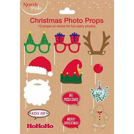 Christmas Themed Photo Props 12pk