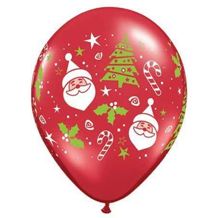 Christmas Tree And Santa Latex Balloons 50pk