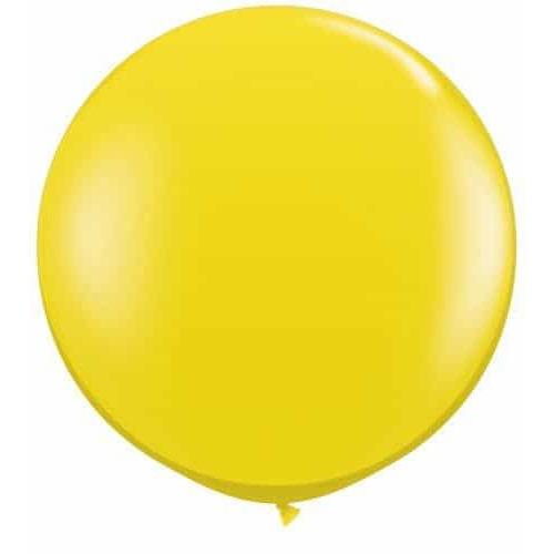 Citrine Yellow Giant Latex Balloons x2