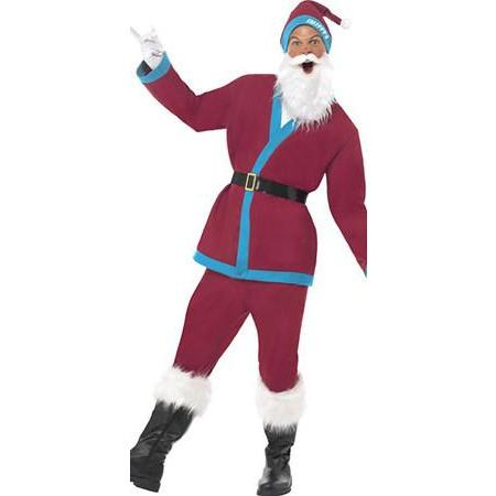 Claret And Blue Sports Santa Suit