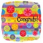 Congrats Bubble Burst Foil Balloon