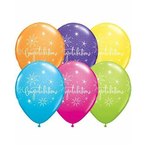 Congratulation Latex Balloons 6ct