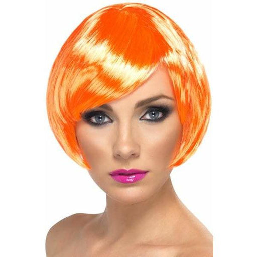 Coral Short Female Babe Bob Wigs With Fringe