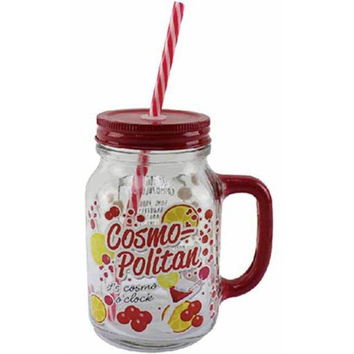 Cosmopolitan Jam Jar Drinking Glass