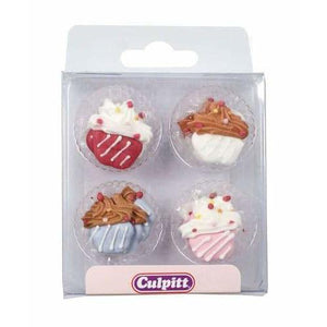 Cupcake Sugar Pipings x12