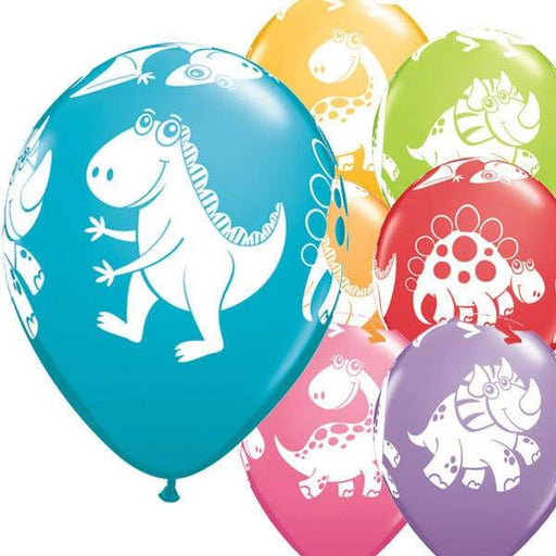 Cute And Cuddly Dinosaurs Latex Balloons 6ct