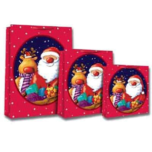 Cute Santa And Reindeer Gift Bags