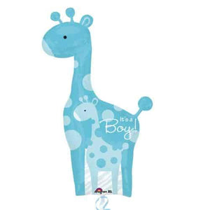 Dad And Baby Blue Giraffe Supershape Balloon