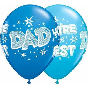 Dad Your The Best Latex Balloons 25pk