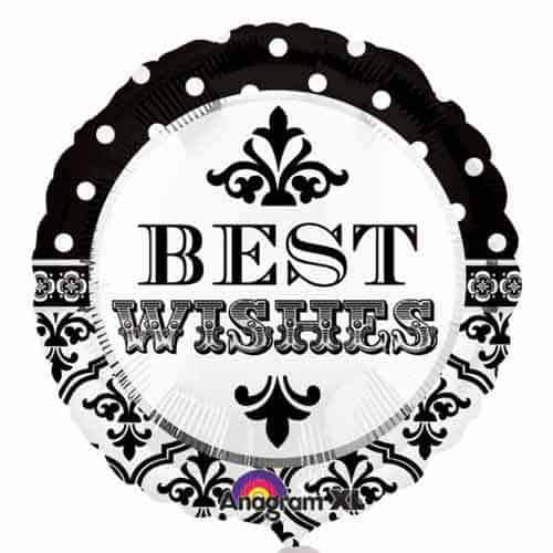 Damask & Dots Best Wishes Foil Balloon