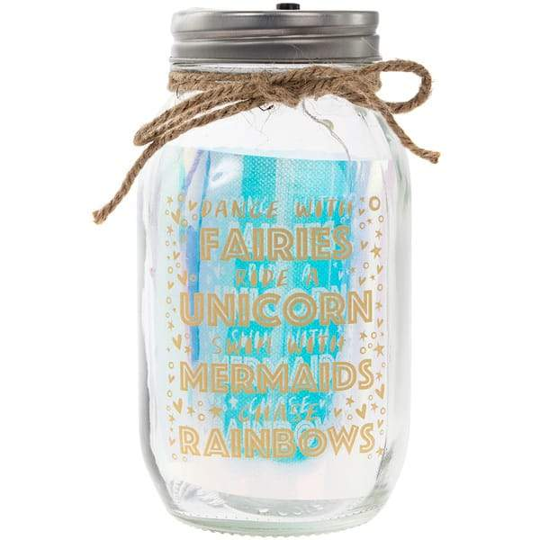 Dance With Fairies LED Glass Light Up Jar