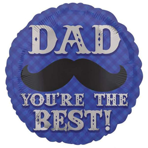Dapper Dad Moustache Foil Balloon