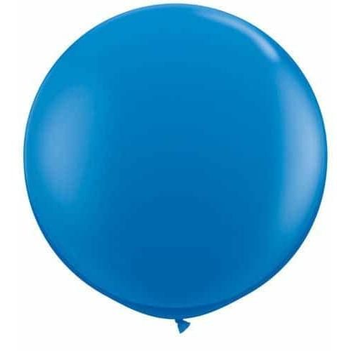 Dark Blue Giant Latex Balloons x2