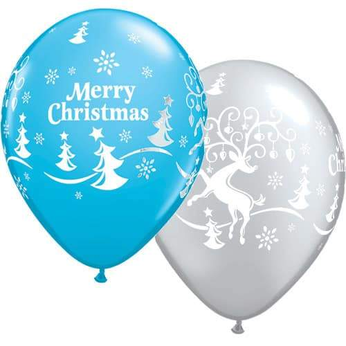 Decorated Reindeer Christmas Latex Balloons 25pk